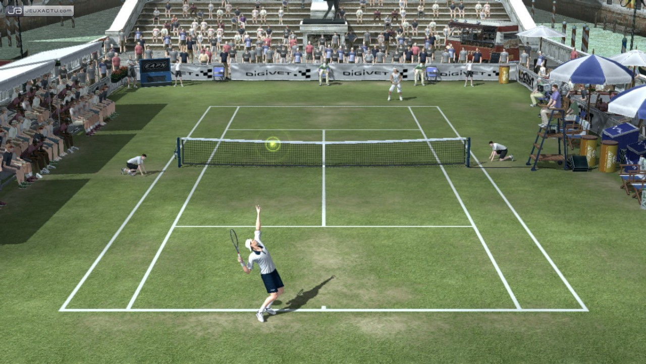 Test smash court tennis 3 for Surface d un terrain de tennis