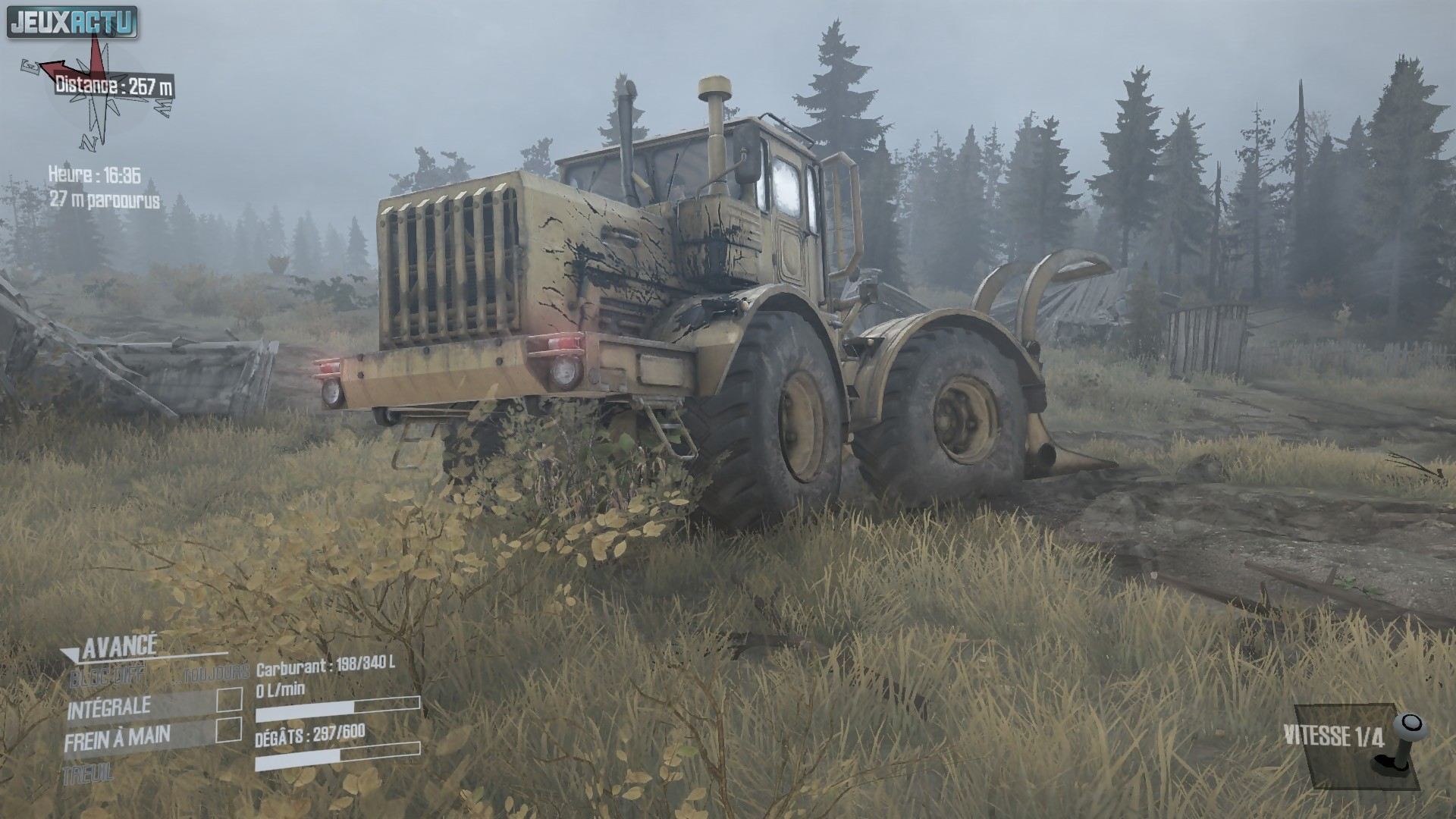test spintires mudrunner un jeu qui patauge vraiment. Black Bedroom Furniture Sets. Home Design Ideas