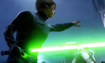 Star Wars Battlefront : Luke Skywalker défonce un Tie Fighter avec la Force