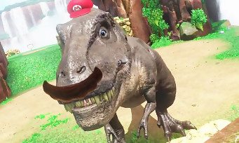 Super Mario Odyssey : une vidéo avec un énorme T-Rex