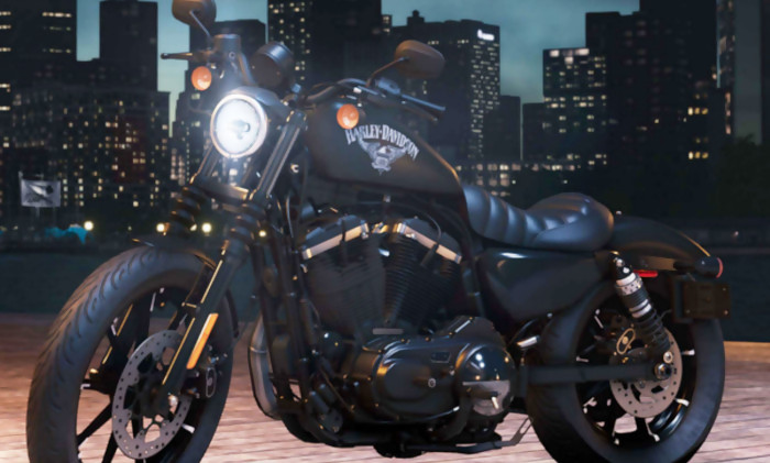 the crew 2 un trailer avec la harley davidson iron 883tm. Black Bedroom Furniture Sets. Home Design Ideas