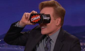 Conan O'Brien essaye la réalité virtuelle avec le HTC Vive !