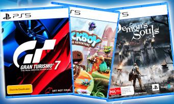 PS5 : Gran Turismo 7, Demon's Souls, Sackoy, voici les jaquettes