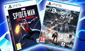 PS5 : voici les poids de Spider-Man Miles Morales et Demon's Souls