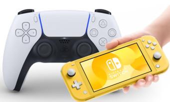 PS5 : on peut jouer à la Nintendo Switch avec la DualSense