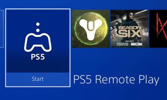 PS5 : une application remote play débarque sur la PS4
