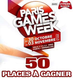 Jeu Concours : Paris Games Week 2013 - 50 places à gagner !