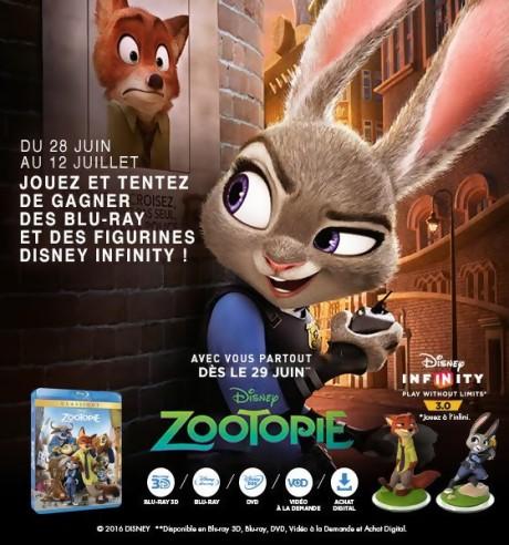 Jeu Concours Zootopie Disney