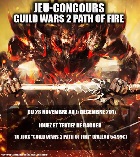 "Jeu-concours ""Guild Wars 2 : Path of Fire"""