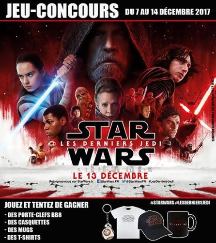 """Jeu-concours """"Star Wars : Les Derniers Jedi"""""""