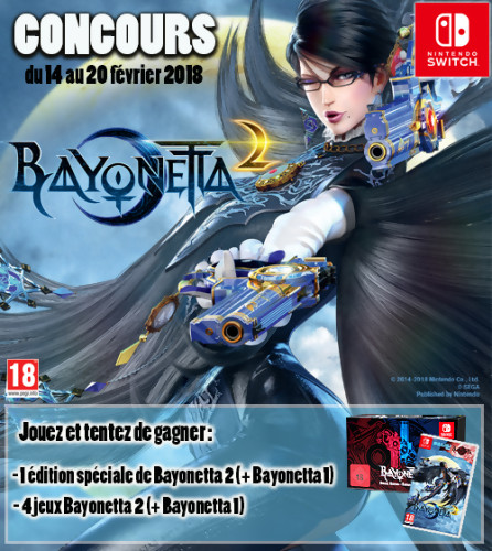 "Jeu-concours ""Bayonetta 1 & 2"""