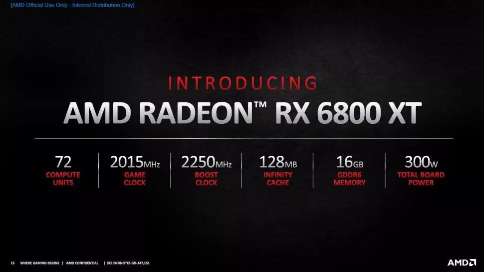 AMD dégaine sa RX 6800 XT pour contrer les RTX 3080, 4K/60 FPS pour moins cher