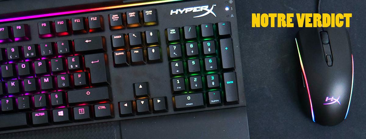 Test clavier HyperX Alloy Elite RGB et souris Pulsefire Surge