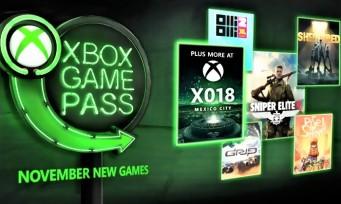 Xbox Game Pass : 5 nouveaux jeux arrivent en novembre !