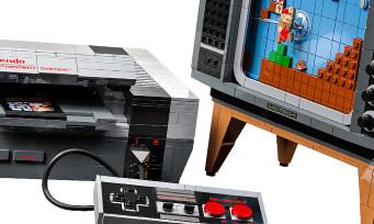 LEGO Nintendo NES : la célèbre console et une TV cathodique en briques