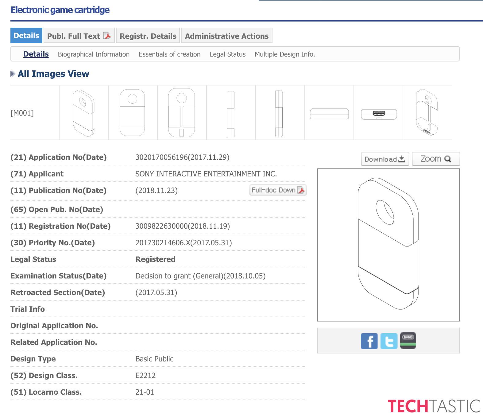 Sony La Cartouche De Jeu Pour Une Nouvelle Console Portable