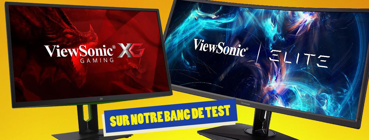 """ViewSonic : on passe à la moulinette un écran 35"""" incurvé et un 27"""" G-Sync"""