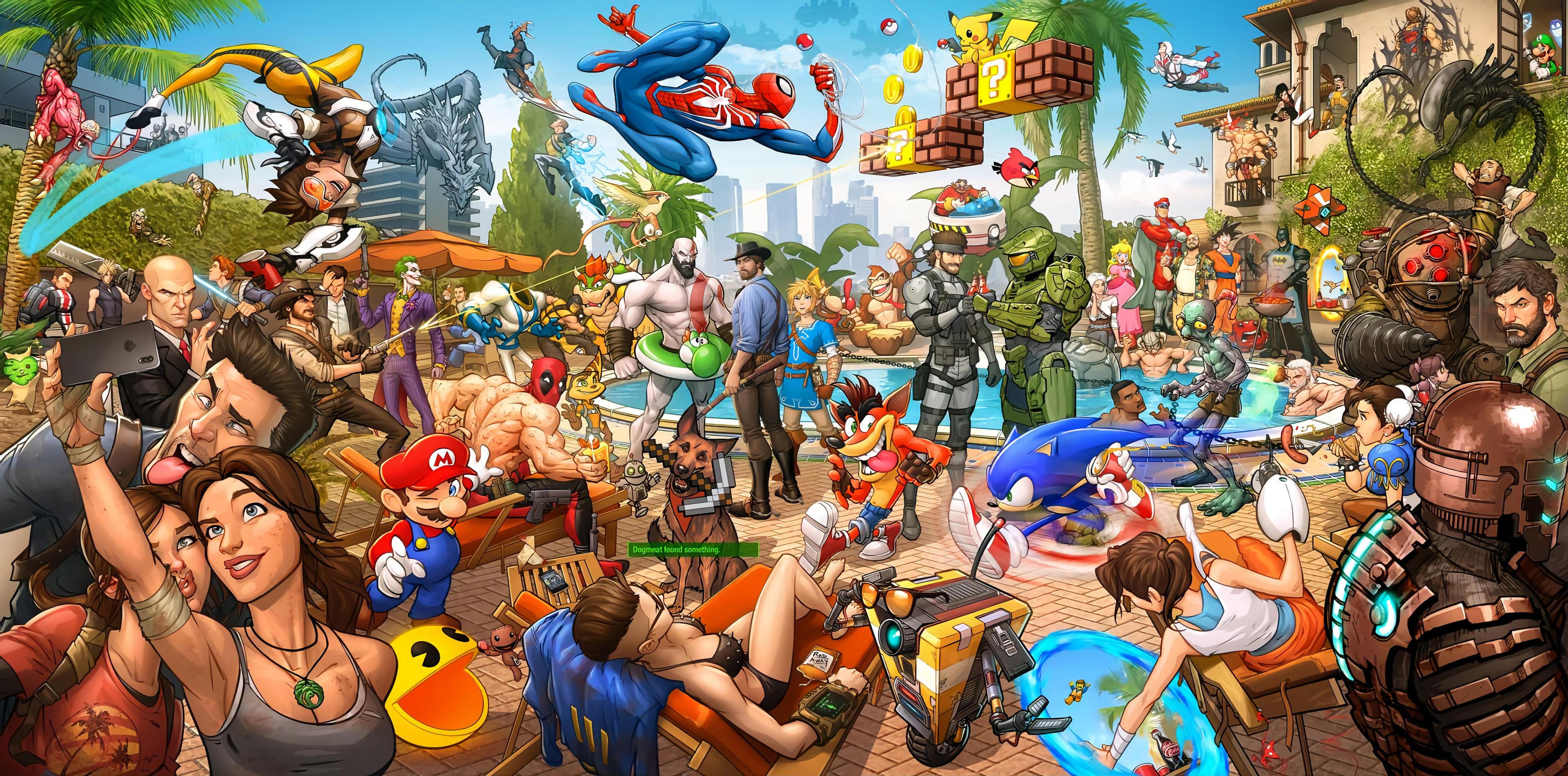 Une sublime fresque réunissant tous les héros de jeux vidéo