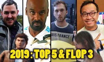 2019 : Top 5 & Flop 3 de la team Jeuxactu