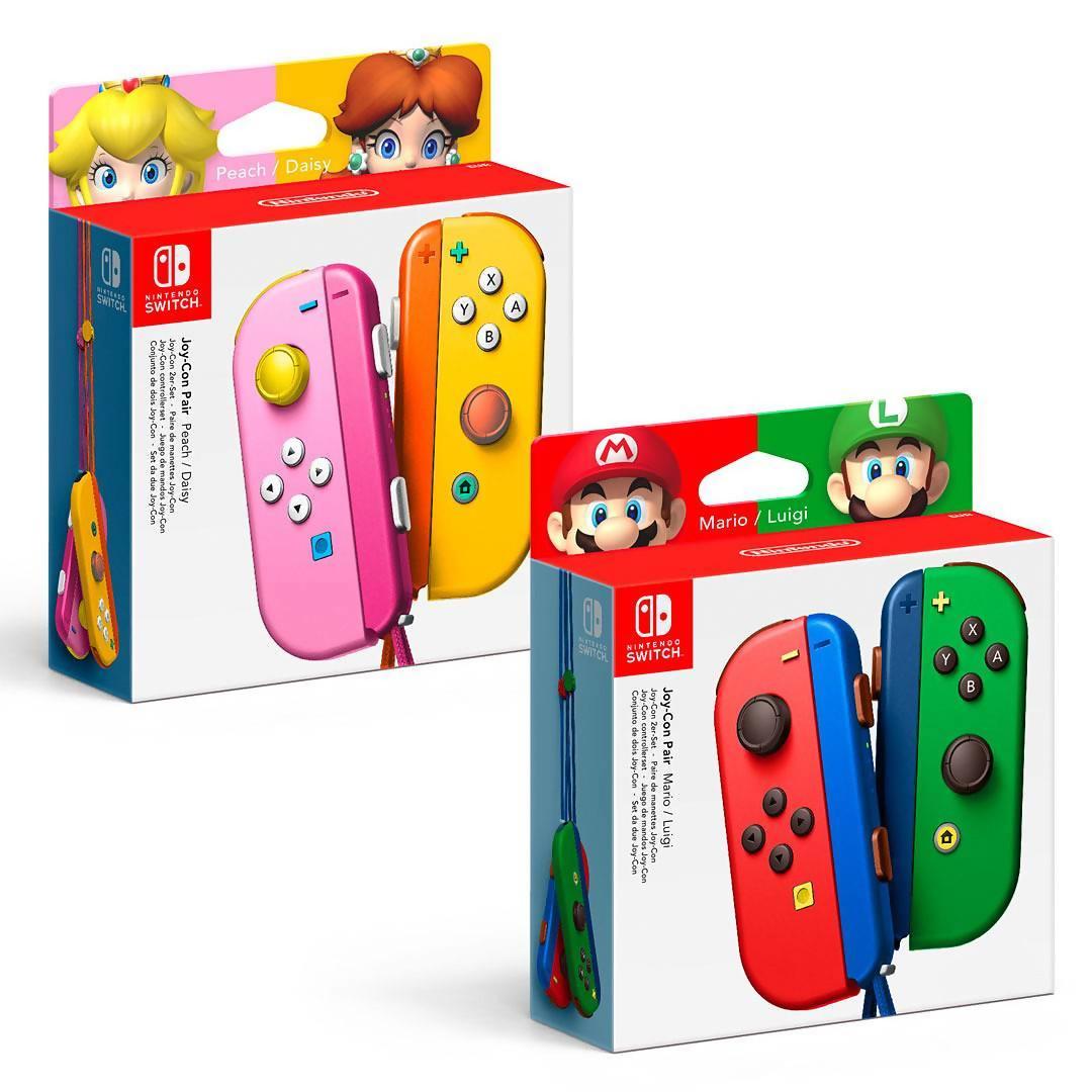 Nintendo Switch Des Joy Cons Aux Couleurs De Mario Et Splatoon