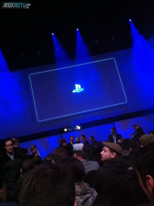 La salle de la conférence où va être dévoilée la PS4