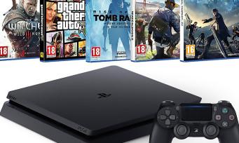 Black Friday : la PS4 Slim 500Go + 5 grands jeux pour moins de 350€ !