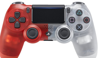 PS4 : trailer des DualShock 4 Crystal et Red Crytal translucides