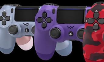 PS4 : 4 nouvelles couleurs pour la Dualshock 4 !