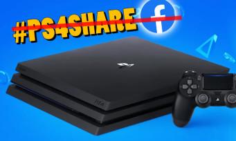 PS4 : Sony retire la compatibilité avec Facebook !