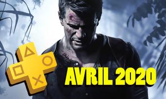 PlayStation Plus : les jeux d'avril 2020 sont là, Uncharted 4 confirmé