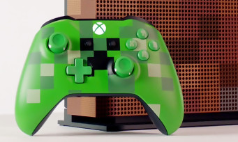 Xbox One S : voici la console collector aux couleurs de Minecraft !