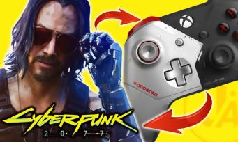Xbox One X Cyberpunk 2077 : la vidéo de la manette Keanu Reeves