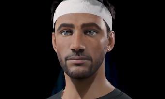 AO International Tennis : un trailer dédié à l'outil de création de personnage