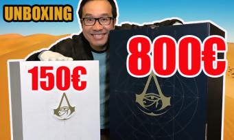 Assassin's Creed Origins : notre unboxing des collectors à 150€ et 800€ !