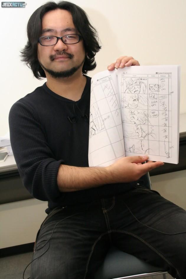 Manabu Murakami nous présente l'un des nombreux storyboards du jeu
