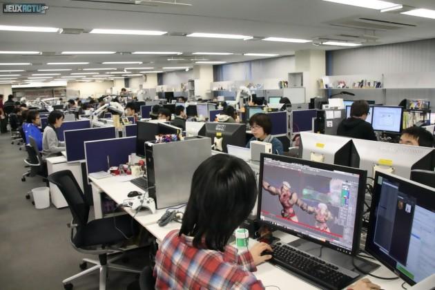 170 personnes composent l'équipe de CyberConnect2 à Fukuoka