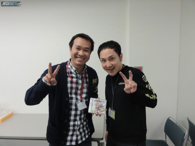 Hiroshi Matsuyama et Maxime dans les locaux de CyberConnect2 en février 2012