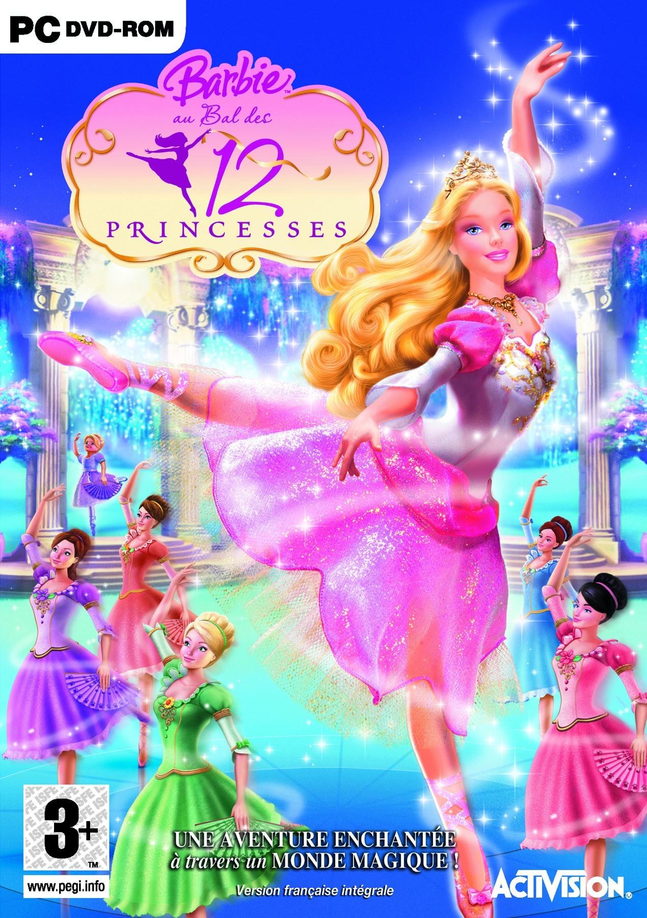Barbie au bal des 12 princesses - Barbie apprentie princesse jeux ...