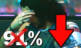 Cyberpunk 2077 : la note PC Metacritic n'est plus à 91%, elle a bcp baissé