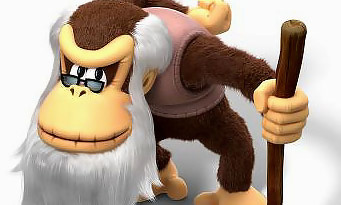 Donkey Kong Country Tropical Freeze : du gameplay avec Cranky