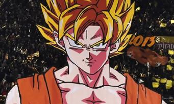 Dragon Ball FighterZ : l'énorme tifo de Goku au Parc des Princes
