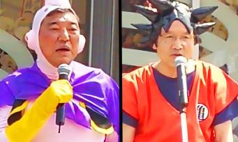 DBZ : au Japon, des politiciens se sont déguisés en Son Goku et Buu