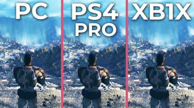 Fallout 76 : une vidéo compare les versions pc ps4 pro et xbox one x