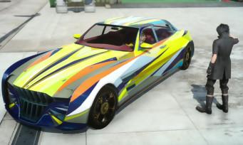 Final Fantasy XV : du tuning avec la voiture de Noctis