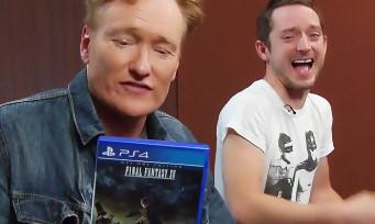 Final Fantasy XV : Conan O'Brien fait découvrir le jeu à Elijah Wood