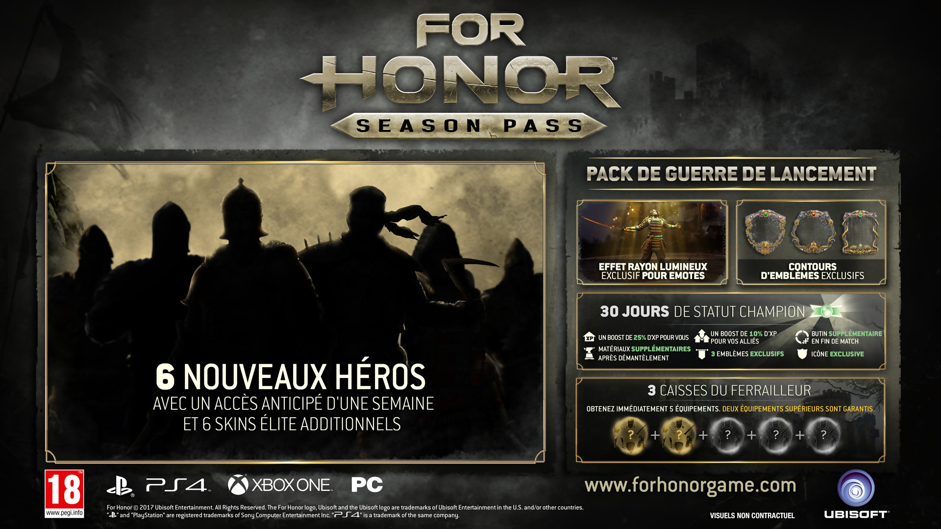 For Honor Tout Le Contenu Du Season Pass Dvoil En Vido