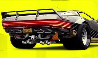 Forza Horizon 4 : l'iconique Quadra de Cyberpunk 2077 est dans le jeu