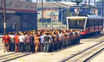 GTA 5 : il tente d'arrêter un tram avec cent personnes