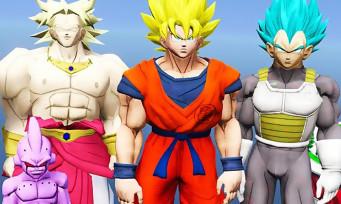 GTA 5 : trailer du mod DBZ avec Son Goku, Vegeta, Broly et Majin Buu