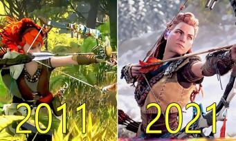 Horizon Zero Dawn : l'évolution du jeu, de 2011 à 2017, de grands changements